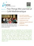 Five things we learned from Café Mathématique