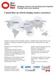 Canada links up with developing country researchers